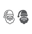 santa claus line and glyph icon christmas vector image vector image