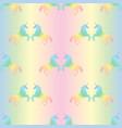 seamless pattern from rainbow unicorns vector image