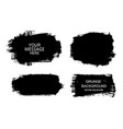 set black paint ink brush strokes vector image