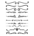 set hand drawn text dividers for poster card vector image vector image