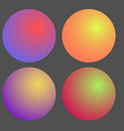 set of gradient futuristic circles design vector image