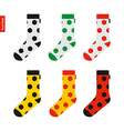 Set of Socks with Soccer Ball Pattern in Colors of vector image vector image