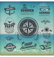 Set of Vintage summer typography design with label vector image