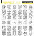 sewing equipment outline concept symbols vector image vector image