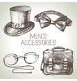 Sketch gentlemen accessories Hand drawn men set vector image vector image