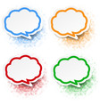 speech bubble set white background vector image