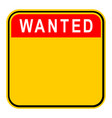 sticker wanted safety sign vector image vector image