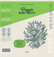 veggie bone broth label template abstract vector image