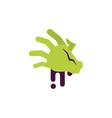 zombie hand trick or treat happy halloween vector image