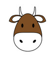 cute bull design vector image