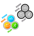 Triathlon symbol vector image