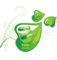 pills capsule on a green leaf vector image