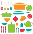 silhouettes of kitchen tools vector image