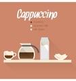 Coffee menu icon vector image