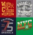 Vintage T-shirt Graphic Set vector image