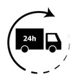 24-hour delivery icon vector image