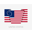 American Betsy Ross Flag Flat Icon vector image