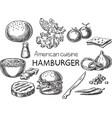 american cuisine vector image vector image