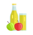Apple Juice Concept vector image vector image