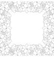 arabian jasmine outline border on white vector image