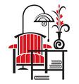 armchair vector image vector image