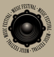 banner for music festival with acoustic speaker vector image vector image