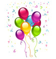 birthday party balloons vector image vector image