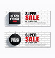 black friday super sale shopping tag cover and vector image vector image