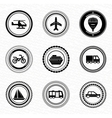 Black retro labels and badges transportation vector image