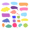 blank empty speech bubbles design for vector image