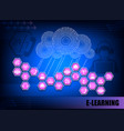blue internet background c characters e-learning vector image vector image