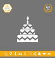 cake symbol icon graphic elements for your vector image