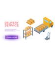 cargo cardboard box flat design delivery service vector image vector image