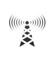 cell phone tower with waves electric tower pole vector image vector image