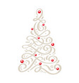 christmas scandinavian greeting card with vector image vector image