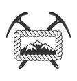climbing and alpine club badge concept for logo vector image