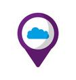 cloud social media round pointer we vector image vector image