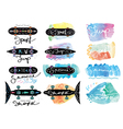 collection of vintage skateboards vector image vector image