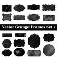 collection retro grunge shapes vintage postal vector image vector image