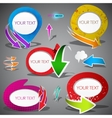 colorful bubbles with arrows on grey background il vector image vector image