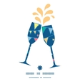 colorful doodle bunting flags toasting wine vector image vector image