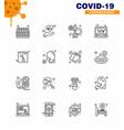 corona virus prevention covid19 tips to avoid vector image vector image