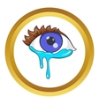 Crying eyes icon vector image vector image