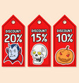 discount price tag of halloween vector image vector image