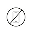 do not use mobile phone icon vector image