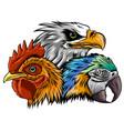eagle mascot logo design template vector image