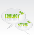 Ecology bubble speech vector image