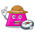 explorer trapezoid mascot cartoon style vector image vector image