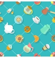 flat city cafe seamless pattern vector image vector image