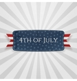 Fourth of July national Badge vector image